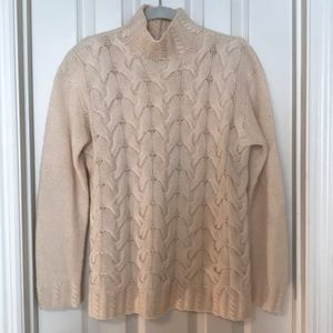 Cashmere Cable Knit Sweater Cream
